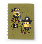 Minions Notizbuch A5 Minions Pirates