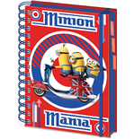Minions Notizbuch A5 British Mod Red