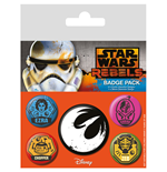 Star Wars Ansteck-Buttons 5er-Pack Rebels