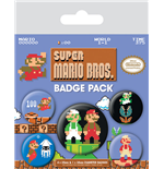 Super Mario Bros. Ansteck-Buttons 5er-Pack