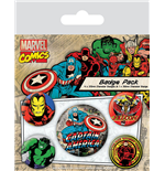 Marvel Comics Ansteck-Buttons 5er-Pack Captain America