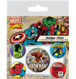 Marvel Comics Ansteck-Buttons 5er-Pack Iron Man