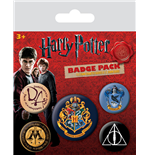 Harry Potter Ansteck-Buttons 5er-Pack Hogwarts