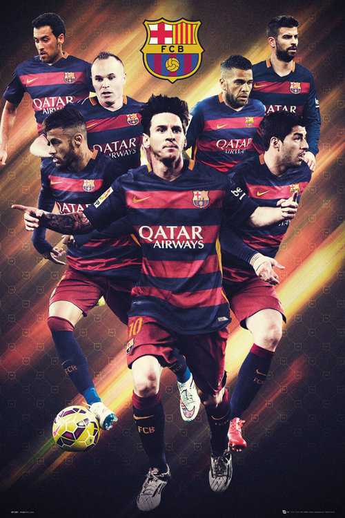 Poster FC Barcelona Players 15/16