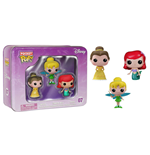 Disney Pocket POP! Vinyl Figuren 3er-Pack Tin Tinkerbell, Belle, Ariel 4 cm