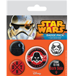 Star Wars Ansteck-Buttons 5er-Pack Dark Side