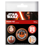 Star Wars Episode VII Ansteck-Buttons 5er-Pack Resistance