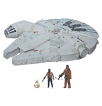 Star Wars Episode VII Fahrzeug mit Figuren 2015 Battle Action Millennium Falcon