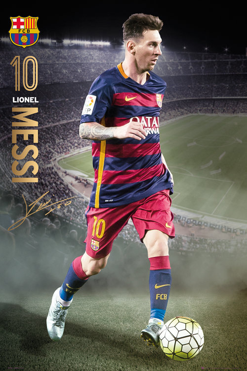 Poster FC Barcelona Messi Action 15/6