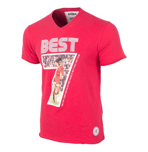 T-Shirt George Best (Rot)
