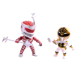 Mighty Morphin Power Rangers Action Vinyl Figuren Doppelpack Metallic Zedd vs White Ranger 8 cm