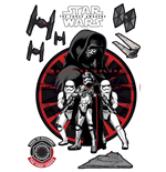 Star Wars Episode VII Wandaufkleber First Order 50 x 70 cm