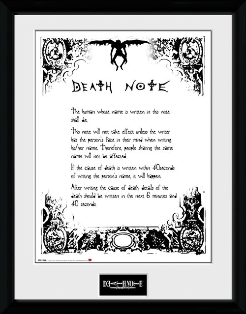 Kunstdruck Death Note 181464