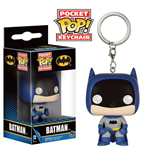 DC Comics Pocket POP! Vinyl Schlüsselanhänger 75th Anniversary Batman Blue 4 cm