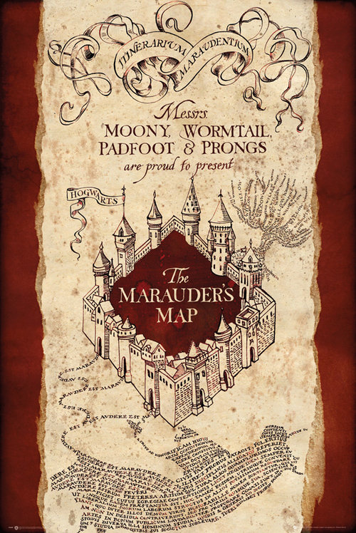 Poster Harry Potter Marauders map