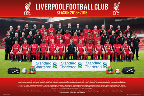 Poster Liverpool FC Team Photo 15/16