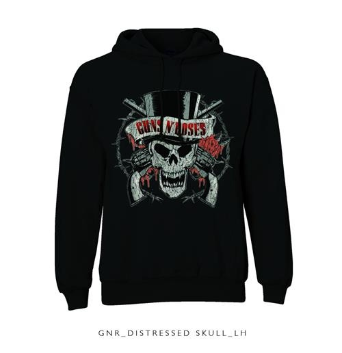 Sweatshirt Top Guns N' Roses: Distressed Skull für Männer