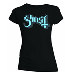 T-Shirt Ghost Women´s Skinny Fit:Blue/Grey Keyline Logo für Frauen