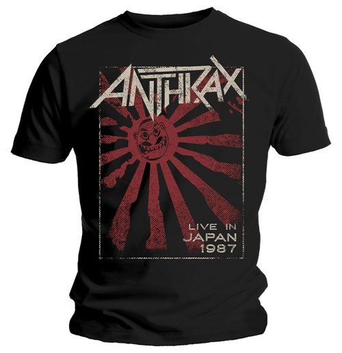 Anthrax T-Shirt für Männer - Design: Live in Japan