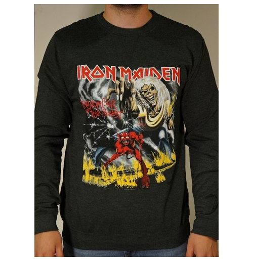 Sweatshirt Iron Maiden Number of the Beast