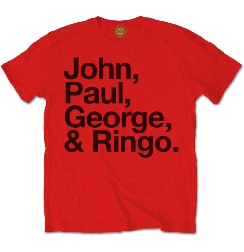 T-Shirt Beatles John, Paul, George & Ringo.