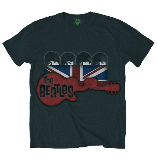 T-Shirt Beatles Guitar & Flag