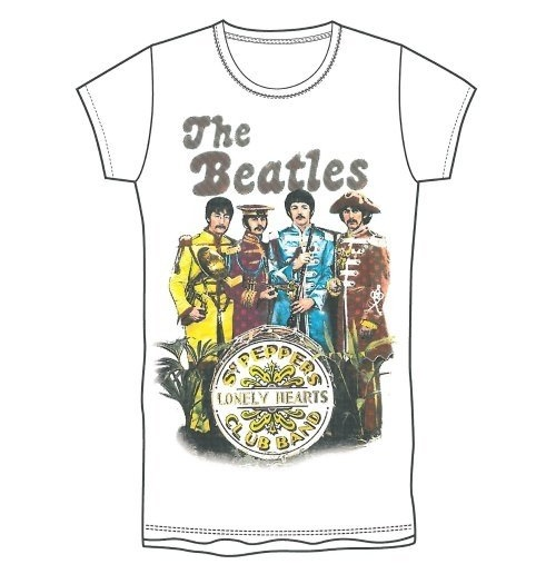 T-Shirt Beatles: Sgt Pepper Band & Drum