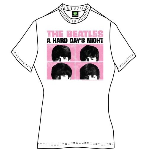 The Beatles T-Shirt für Frauen - Design: Hard Days Night Pastel