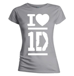 T-Shirt One Direction für Frauen - I Love