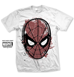 T-Shirt Spiderman Spidey Big Head Distressed