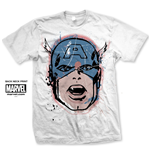 T-Shirt Captain America Big Head Diestressed