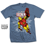 Iron Man T-Shirt für Männer - Design: Iron Man Stamp