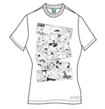 T-Shirt Moomin fur Frauen oomin Falls In love Comic Strip