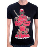 T-Shirt Deadpool Pose in schwarz