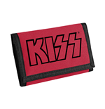 Geldbeutel Kiss - Logo (Black on Red)