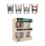 Set  4 Glasser Harley Quinn