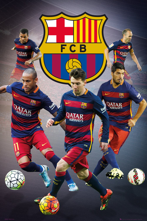 Poster FC Barcelona Star Players
