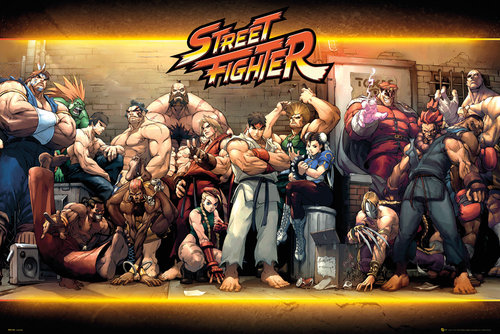 Poster Street Fighter Characters