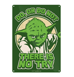 Schild Star Wars aus Metall - Yoda Try