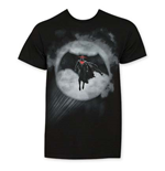 T-Shirt Batman vs Superman in Bat Signal