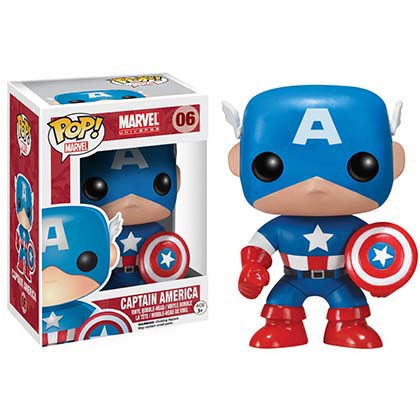 Actionfigur  Bobble Head Funko Pop Captain America