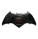 Batman v Superman Dawn of Justice Gummi-Schlüsselanhänger Logo 7 cm