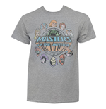 T-Shirt Masters Of The Universe Faces Circle Logo