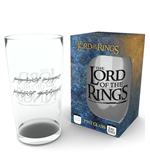 Herr der Ringe Glas Inscription