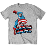 T-Shirt Marvel Comics - Simple Captain America Grey