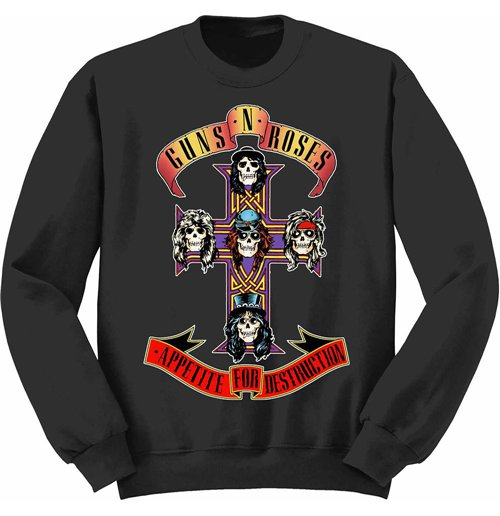 Sweatshirt Guns N' Roses  - Appetite For Destruction Black