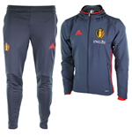 Trainingsanzug Belgien Fussball 2016-2017 Adidas