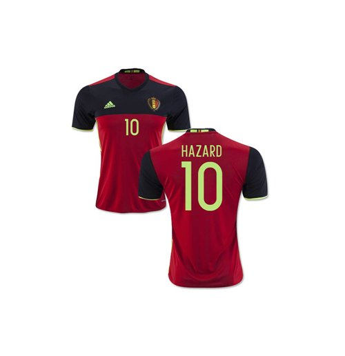 T-Shirt Belgien Fussball 2016-2017 Home (Hazard 10) - Kinder