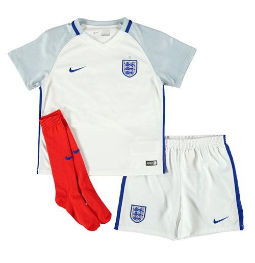 Mini Set Fussball England  2016-2017 Home fur Kinder