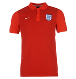 Polohemd England Fussball 2016-2017 Nike Authentic Grand Slam (Rot)